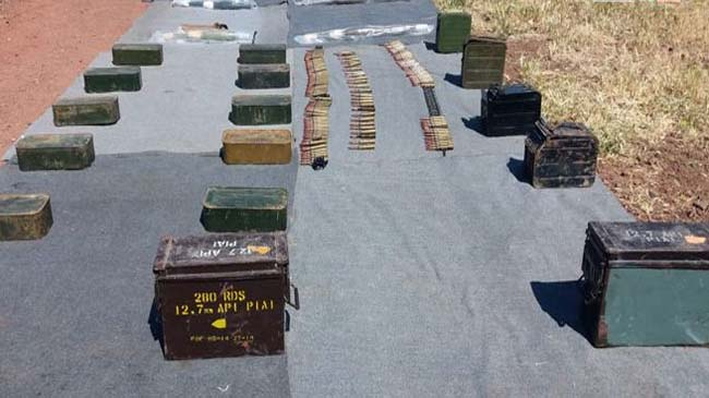 Authorities find weapons, some of them of Israeli-made, left by terrorists in Quneitra countryside