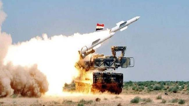 Syrian air defenses intercept an Israeli aggression on Massyaf area, down a number of missiles
