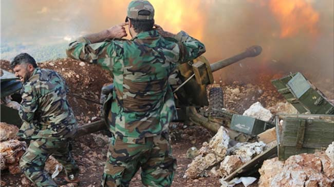 Syrian Army Pounds, Destroys Terrorists' Positions in Hama