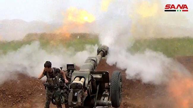 Army targets terrorists' positions in Hama and Idleb, many terrorists killed
