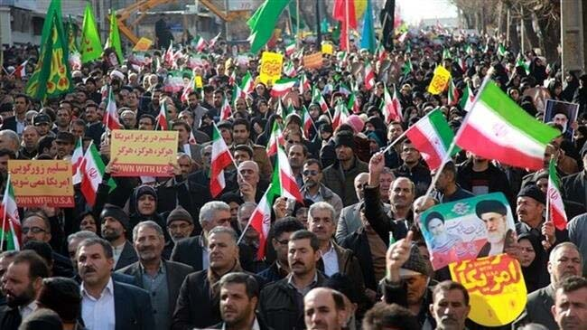 Iranians hold nationwide rallies to express support the IRGC following its blacklisting by the US
